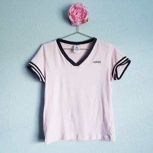 3 FOR $15 Adidas Pink & Gray Vneck Top